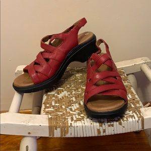 Ariat Red Leather Sandals Size 8.5